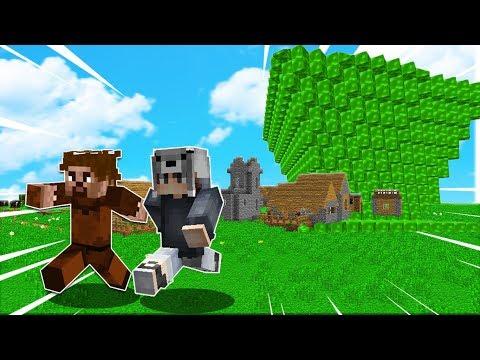 FAKİR'İN KÖYÜ VS TUSUNAMİ KIYAMETİ! 😱 - Minecraft thumbnail
