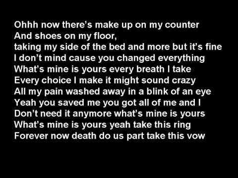Kane Brown - What s Mine Is Yours (Lyrics | Lyric Video)