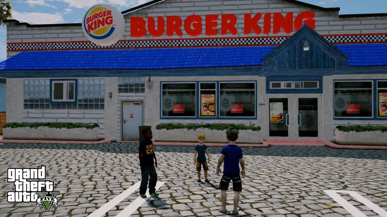 gta 5 real life child mod 22 visiting burger king youtube