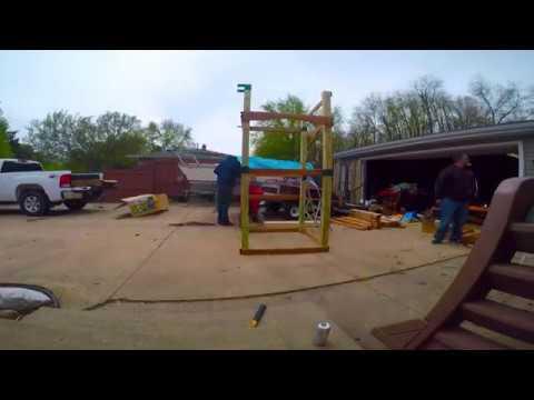 Home Depot Hawks Nest Swing Set Build Youtube