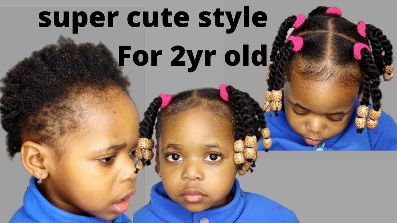 Try This Protective Hairstyles For Short Natural Hair 2year Old Kid Toddler Black Kid Little Girl Youtube