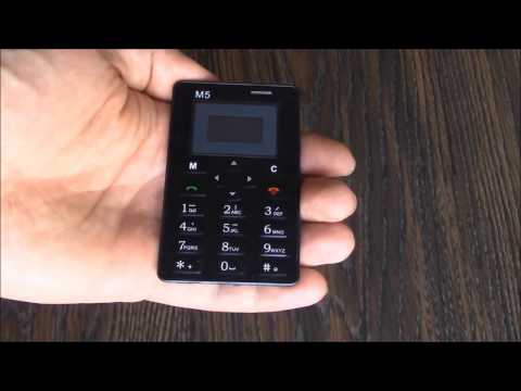 The M5 Mini Card Cell Phone Setup Instructions Review And Unboxing