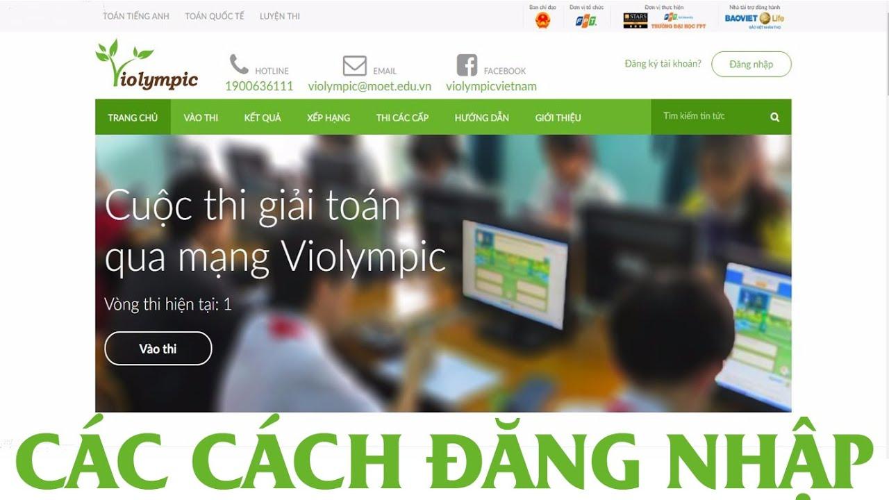 Hướng dẫn các cách Đăng nhập trên Violympic