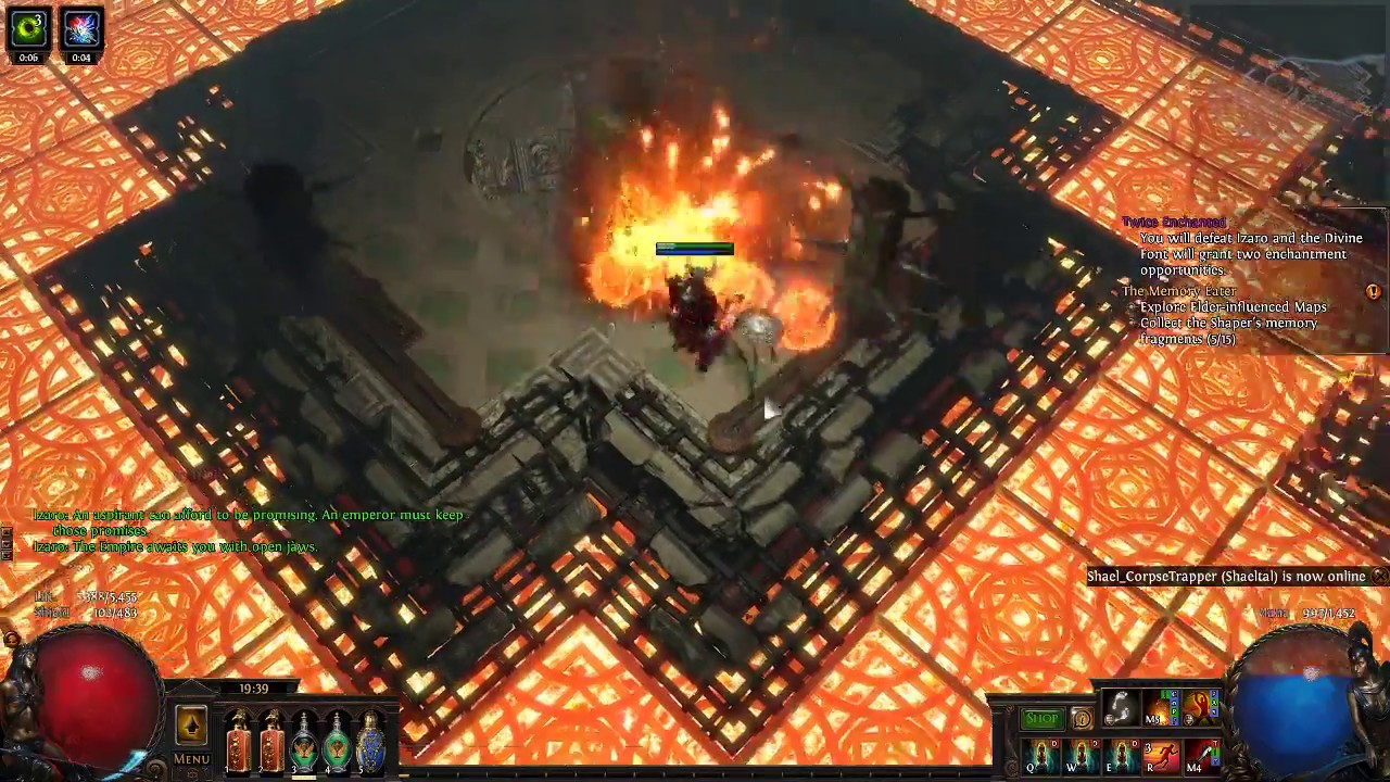 Poet's Pen Volatile Dead Build running Uber Lab