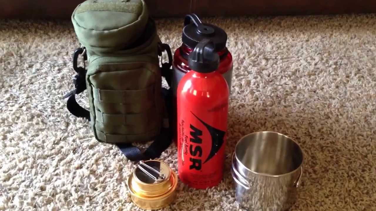 Nalgene Bottle Alcohol Stove Kit Youtube