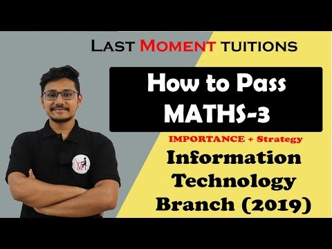 MU Engineering Maths-3 Importance + Strategy [2019]| Branches IT [ Information Technology]