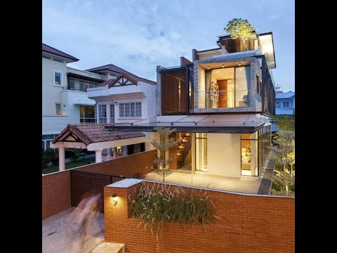 Modern Home Design with Semi Detached Concept Percieved a Siamese Twin
