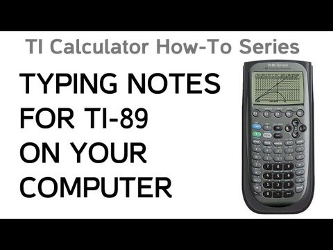 How To Type Your Ti Notes
