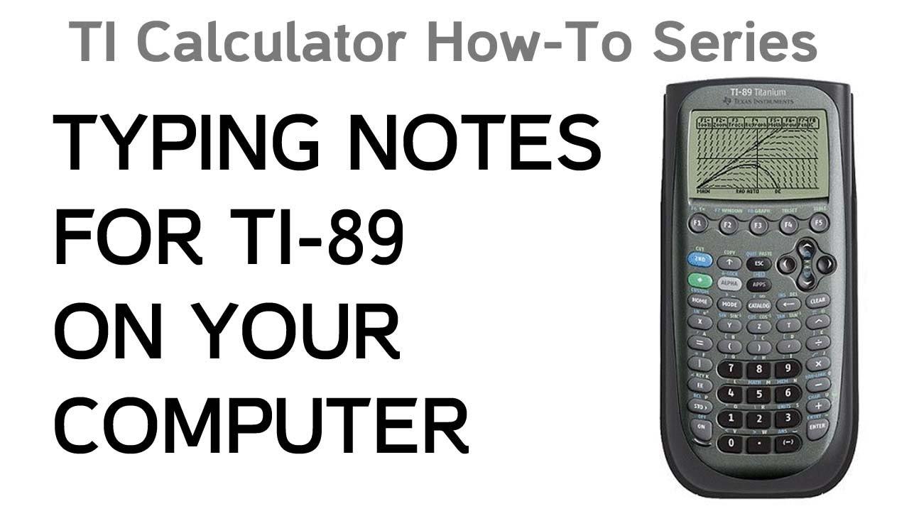 notefolio ti 89 titanium