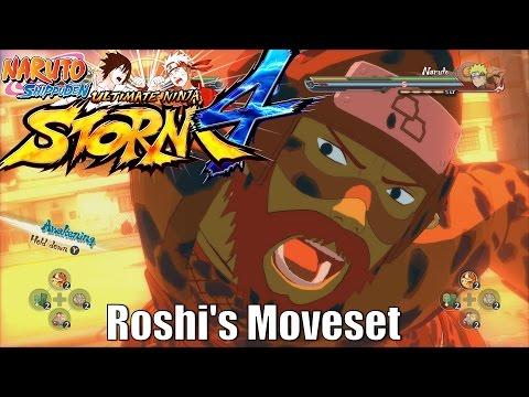 Naruto Shippuden | Ultimate Ninja Storm 4 | Roshi Four Tails Jinchuriki Son Goku「Moveset」