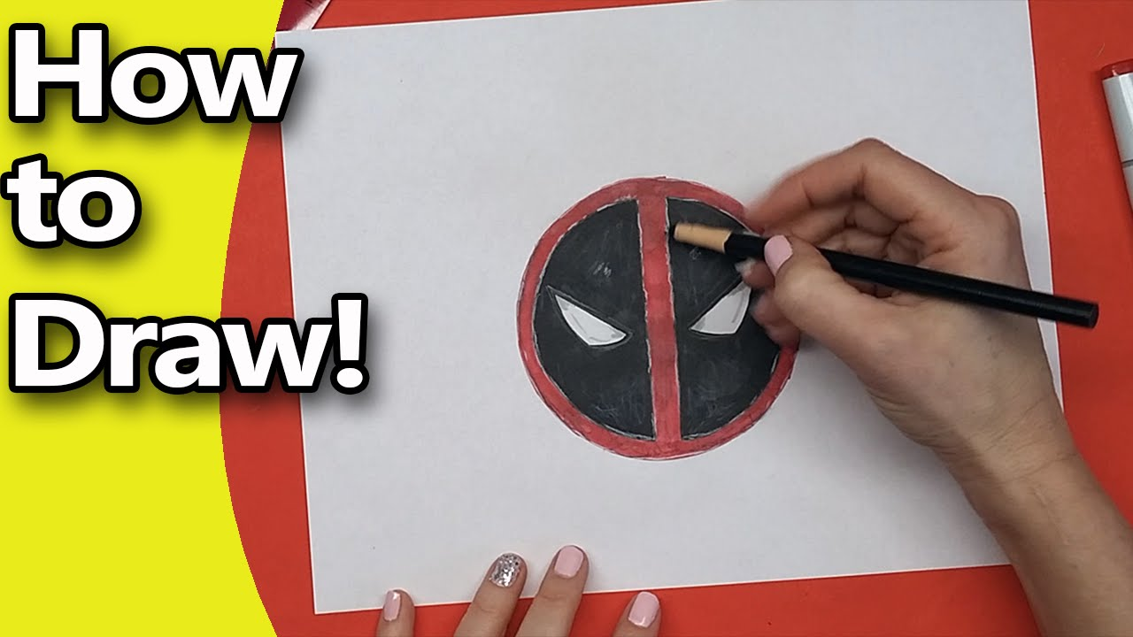 How To Draw The Deadpool Logo Step By Step