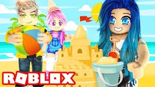 Building the BIGGEST Sand Castle in Roblox!