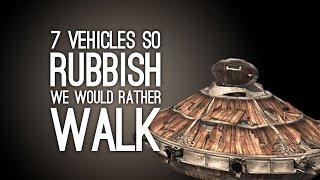 7 Videogame Vehicles So Rubbish We