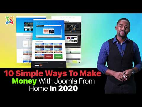 10 Simple Ways To Make Money With Joomla From Home In 2020 (Beginners Guide)