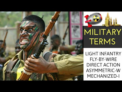 All About Light Infantry, Mechanized Infantry, Fly-By-Wire, Direct Action & Asymmetric Warfare