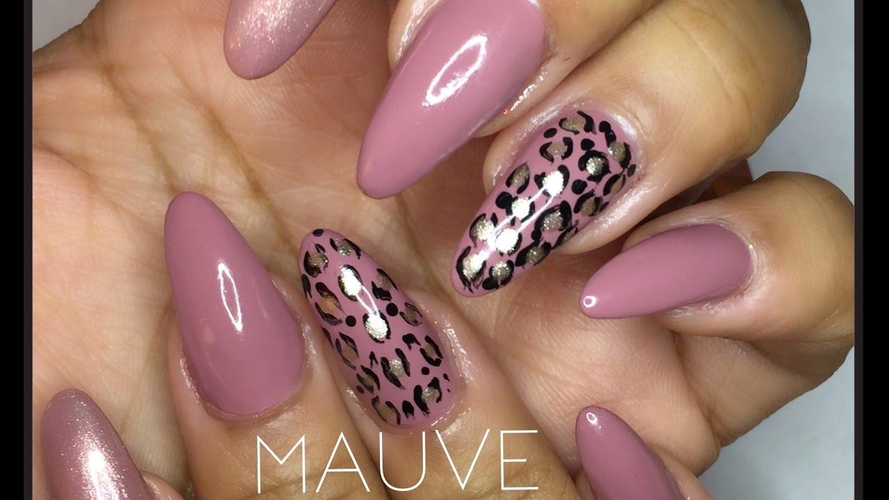 Mauve Leopard Print