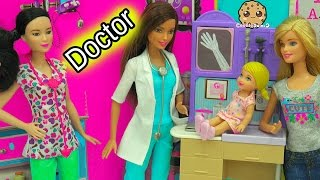 A Day with Pediatrician Doctor + Nurse Barbie Doll Medical Center Playsets thumbnail