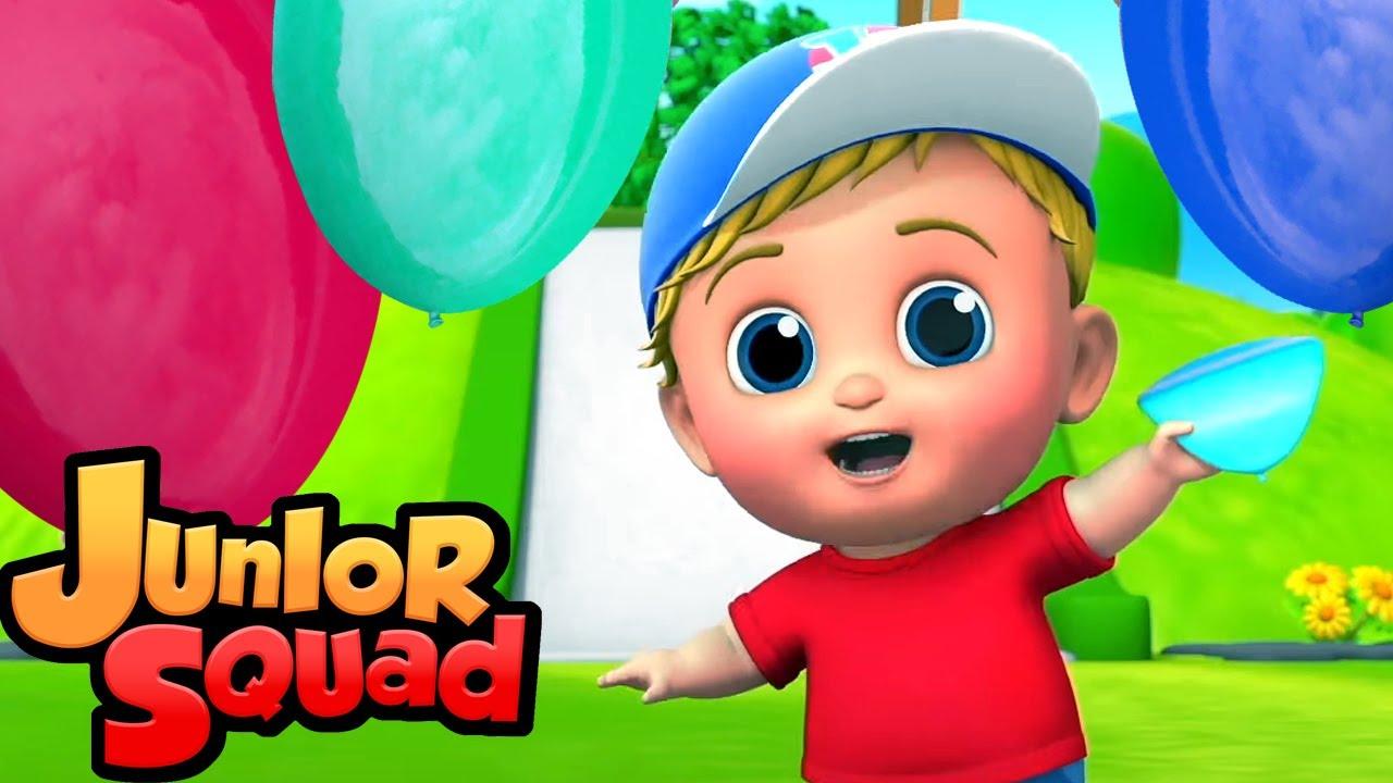 баллонная песня | песенки для детей | потешки | Junior Squad Russia | мультфильмы