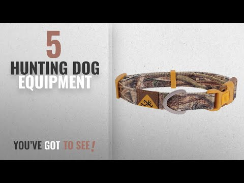 top-10-hunting-dog-equipment-[2018]:-browning-classic-camo-dog-collar,-mossy-oak-shadow-grass