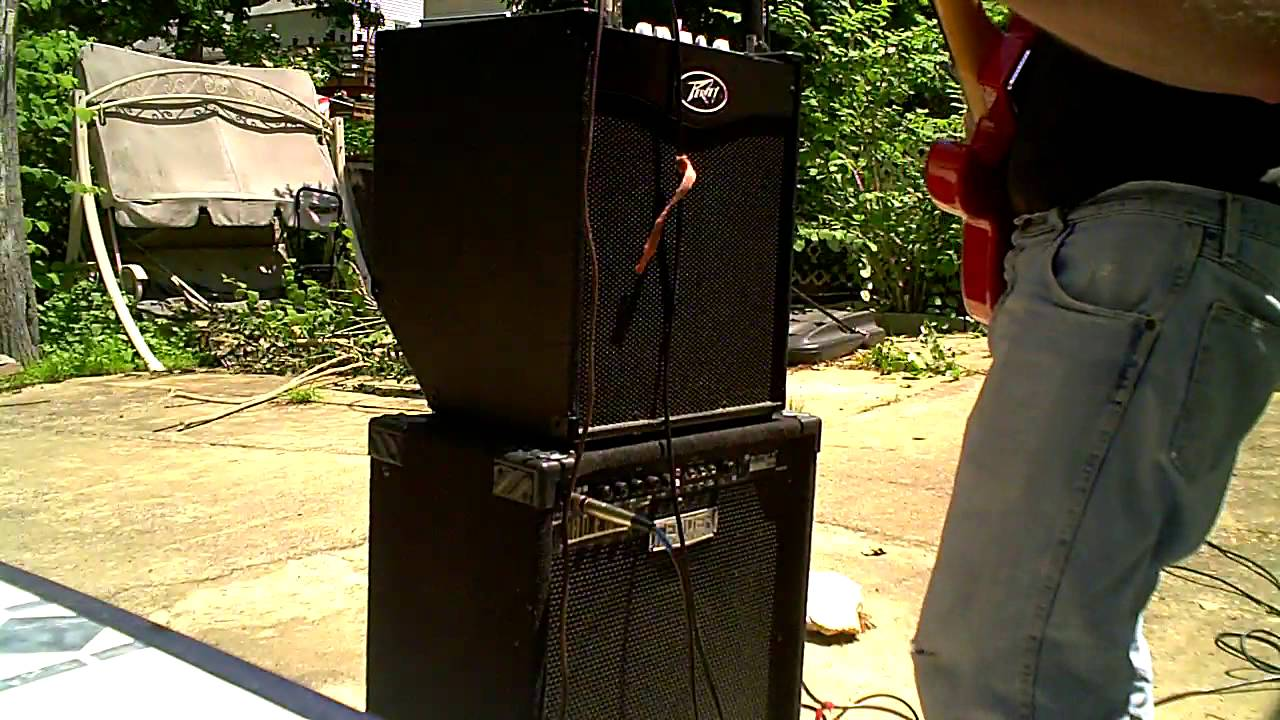 ASHLEY: Can you hook up two combo amps together