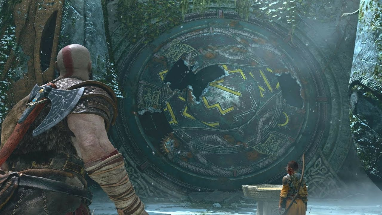God Of War Guide Rune Door Lock Puzzle Path To The Mountain ...