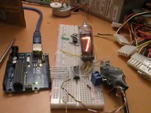 Тест индикатора ИН-14 arduino