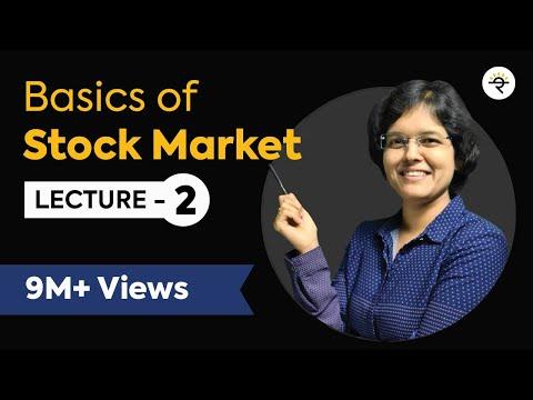 Basics Of Stock Market For Beginners  Lecture 2 By CA Rachana Phadke Ranade
