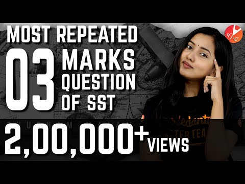 Most Repeated 3 Mark Questions & Answers | Social Science Class 10 Important Questions | Vedantu