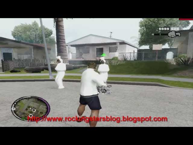 GTA SA  - Pocong In Front Of CJ House [Mod] Travel Video