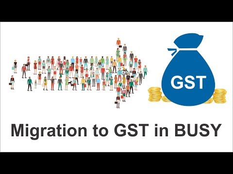 Migration to GST in BUSY (Hindi)