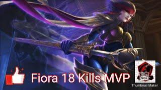 League of Legends Wildrift Alpha Test: Fiora Game Play 18 Kills Mvp