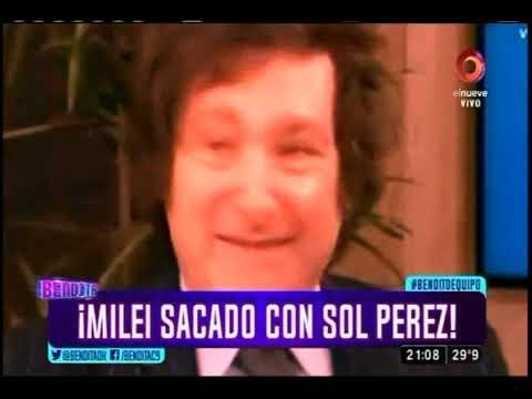 ¡Milei sacado con Sol Pérez!