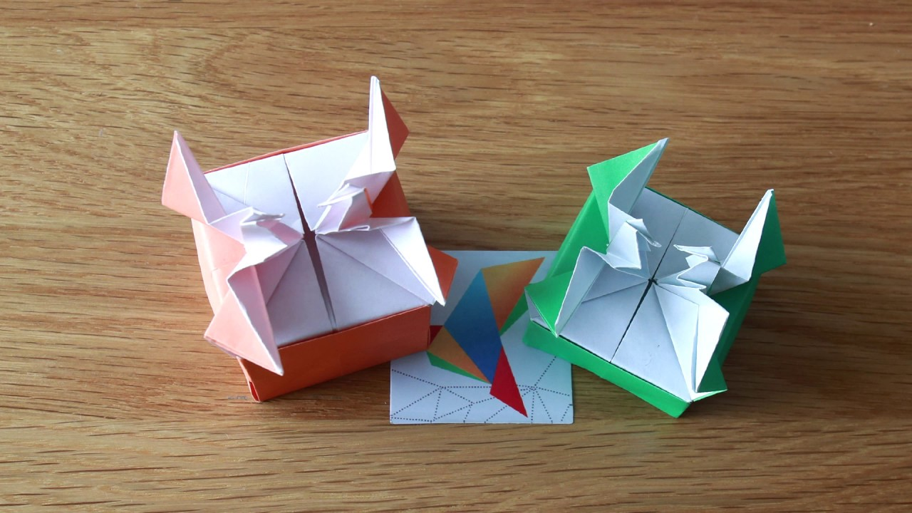 I found another cute Origami crane / box design that I want to ... | 720x1280