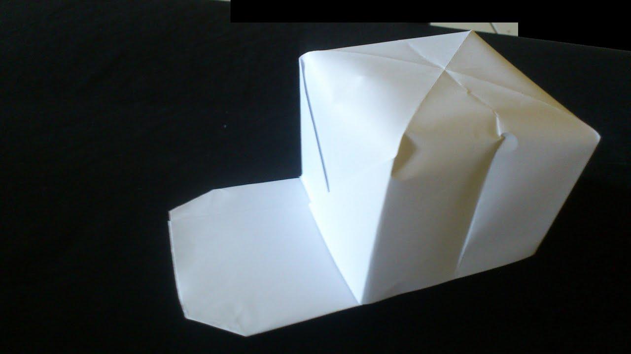 Cara Membuat Origami Topi Baseball   Origami Alat - YouTube