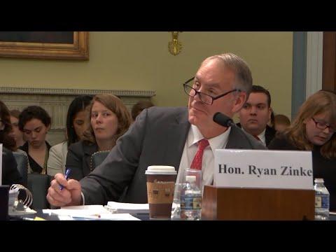 Ryan Zinke said Konnichiwa when asked about Japanese Internment Camps