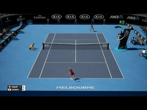 AO Tennis - Simona Halep (CPU) vs Naomi Osaka (CPU) - Fast4 Match - PS4 Gameplay