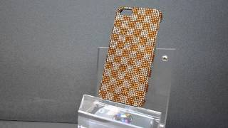 iPhone 5 Case Made With Swarovski Crystals Designed in Small Square Pattern Thumbnail