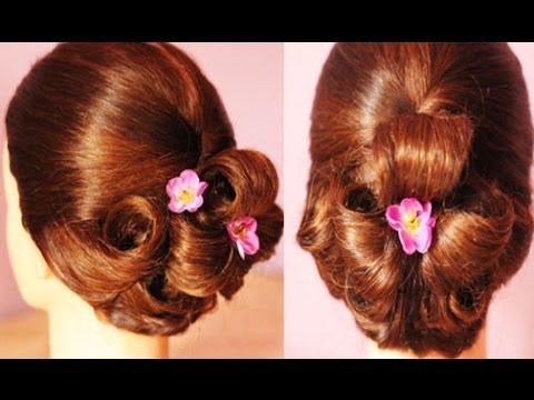 Elegant Pin Flower Updo Hair Tutorial Beautyklove Youtube