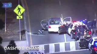 Los Angeles Police chase three carjackers (August 1, 2017)