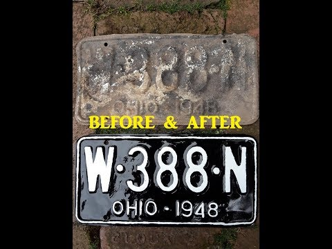 1948 Ohio License Plates American Restoration Old Car Show Treasure Hunting