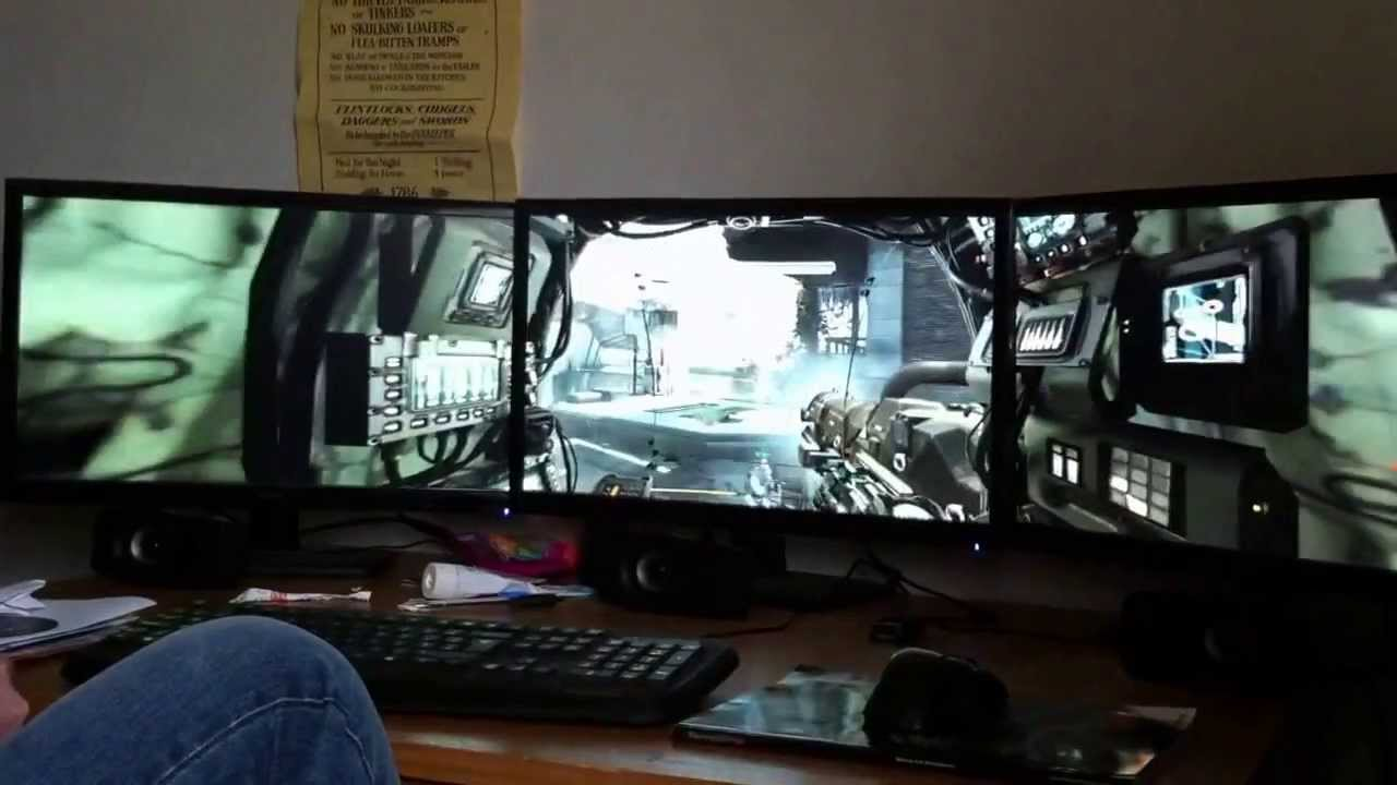Titanfall Triple Screen Monitor Nvidia Surround Youtube