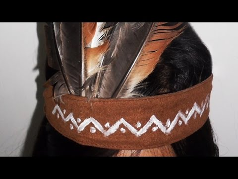 How To Create A Simple Indian Feather Headdress - DIY Style Tutorial - Guidecentral