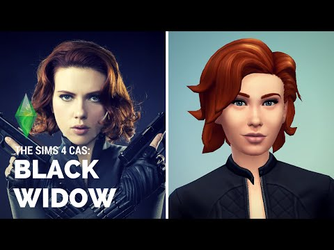 SIMS 4: Black Widow CAS
