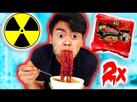 NUCLEAR FIRE NOODLE CHALLENGE!