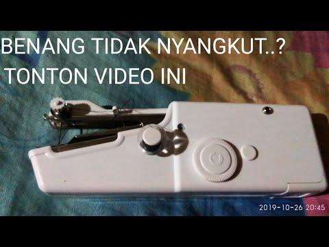 Cara Memperbaiki Mesin Jahit Tangan Benang Tidak Nyangkut Youtube