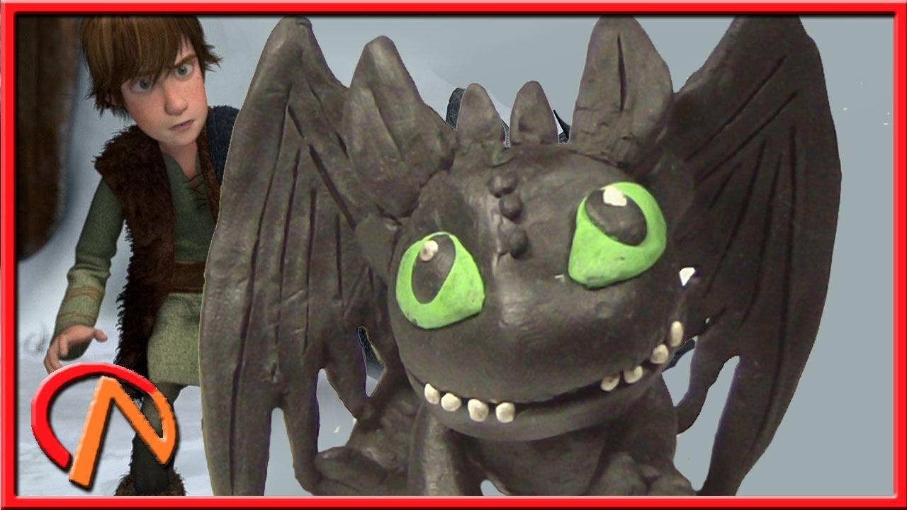 Как слепить дракона Беззубика (Ночную Фурию) из пластилина ...