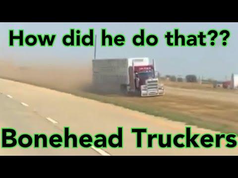 Bonehead Truckers of the Week   BULL HAULER LOSES IT