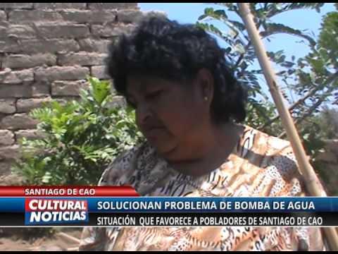 POBLADORES YA CUENTAN CON AGUA EN SANTIAGO DE CAO