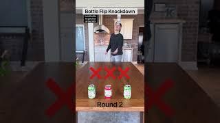Bottle Flip Knockdown! Round 2!! 👍🏼