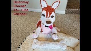 Crochet Large Amigurumi Siberian Husky Dog Part 2 of 4 DIY Video Tutorial